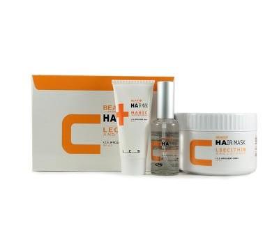 Маска для волос с лецитином и маслом кокоса 500мл + 60мл + 50мл