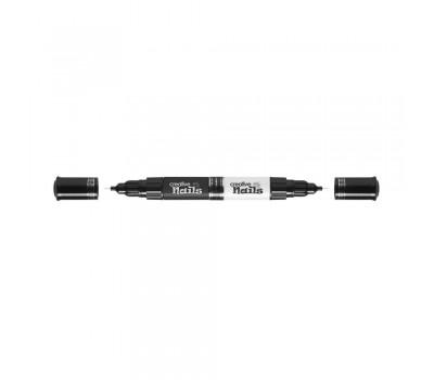 Creative Nails лак ручки-2шт черный / белый